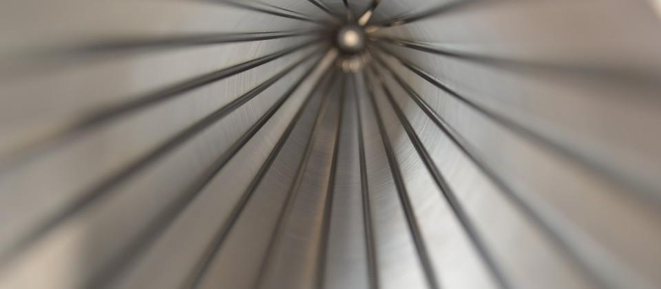 Binnenzijde van een gereinigde filter